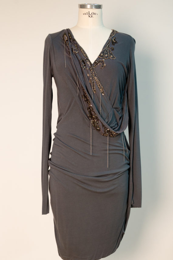 Kleid ( Blau und Natur)